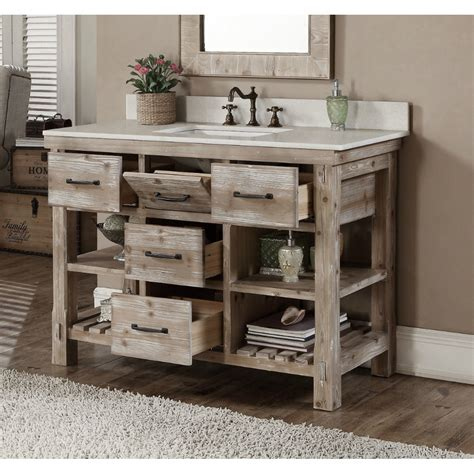 bathroom vanities 36 inch accos 48 inch rustic bathroom vanity matte ash grey Rustic