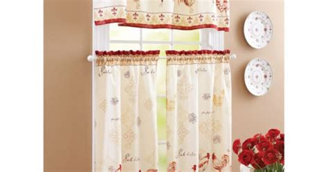 Walmart Rooster Kitchen Curtains by Better Homes And Gardens Rooster Tier Curtain And Valance