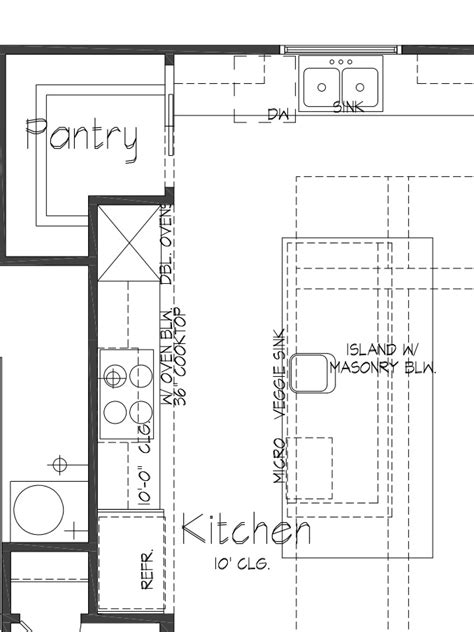 Kitchen Cabinet Floor Plans by Custom Kitchen Floor Plans Tx Palladian