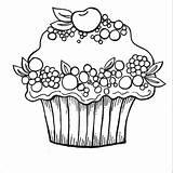 Cupcake Coloring Cupcakes Kleurplaten Ausmalbilder Printable Muffin Coloriage Dessin Kleurplaat Ausmalbild Sup Fruit Malvorlagen Noir Tekening Animaatjes Nouveau Blanc Printables sketch template