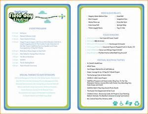 Event program template great printable calendars for Program templates for events
