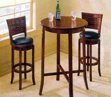 small  pub table  storage  chairs