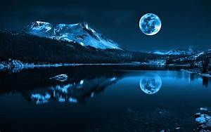 Moon, Lake, Sky, Night, Wallpapers, Hd, Desktop, And, Mobile, Backgrounds