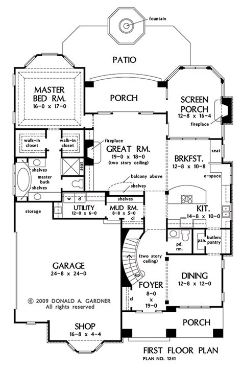 home plan  rutherford  donald  gardner architects