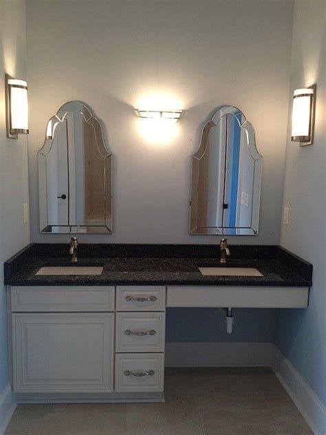 wheelchair accessible master bathroom sink accessible