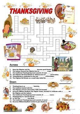 esl thanksgiving worksheets