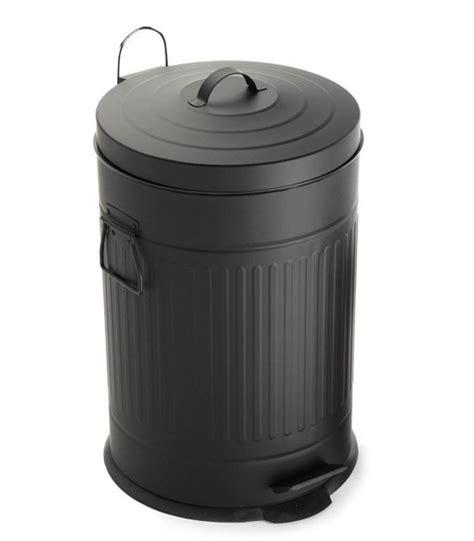 poubelle en bois cuisine étagère de rangement sur roulettes en bois et métal noir
