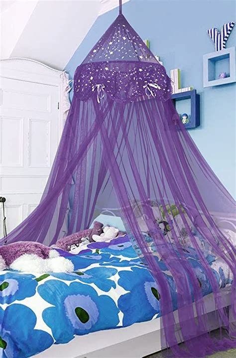 amazoncom lilac oasis princess bed canopy  twin beds home kitchen   princess