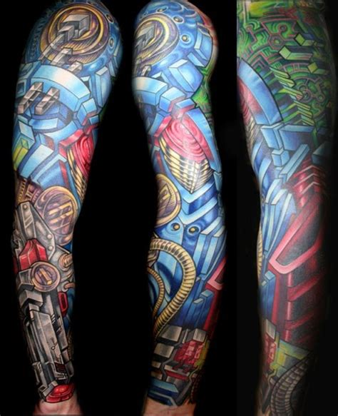 afrenchieforyourthoughts colorful tattoos  men