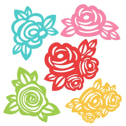 Flowers Svg Scrapbook Cut File Cute Clipart Files For