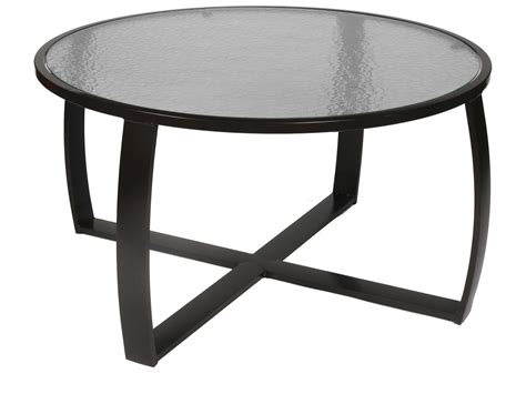 Suncoast Pinnacle Aluminum 44'' Round Glass Coffee Table