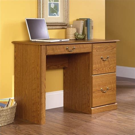 small wood computer small wood computer desk in carolina oak finish 401562