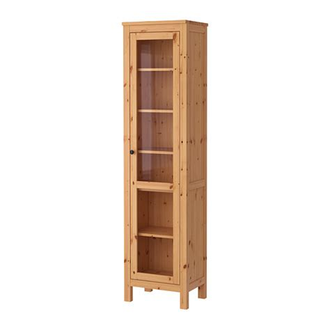 Curio Storage Cabinet by Hemnes Vitrinekast Lichtbruin Ikea