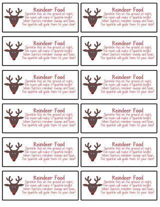 reindeer dust printable labels top label maker