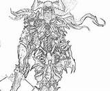 Demon Printable Hunter Coloring Pages Diablo Female Template sketch template