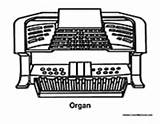 Organ Music Coloring Pages Instrument Electric Colormegood sketch template