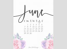 June 2018 Calendar Cute calendar printable free