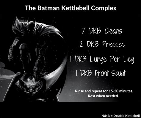 complex batman kettlebell workout training weight circuit exercises write challenge workouts