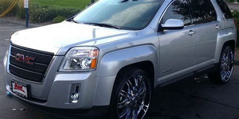 gmc terrain slt   big rims custom wheels