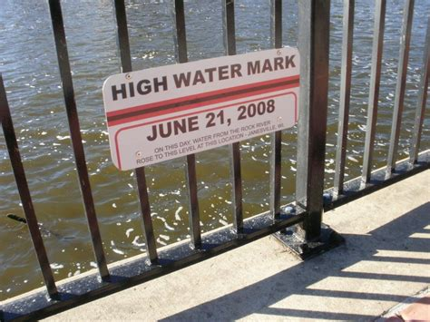 Wisconsin High Water Mark Signs