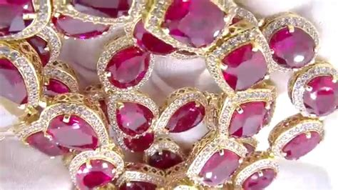 rick ross style simulated ruby bling bling chain hip hop