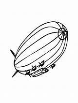 Airship Coloring sketch template