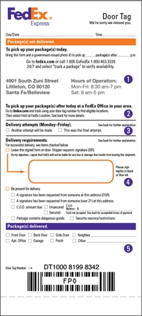 fedex delivery door tag what is a fedex manual call tag brookinb
