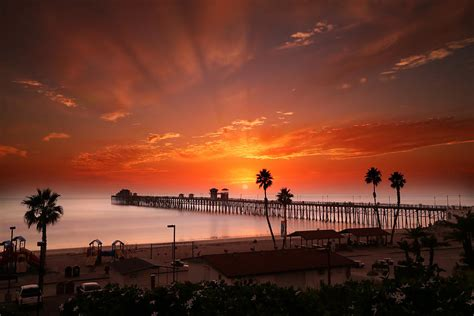 oceanside sunset 9 photograph by larry marshall