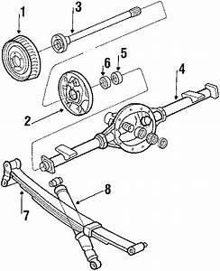 Chevrolet Blazer Brake Drum  Suspension  Components  Rear