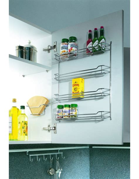 Wide Spice Rack by Spice Rack For Wall Unit Doors Four Tiers Door