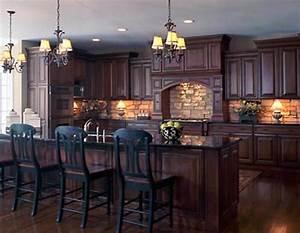 Backsplash idea for dark cabinets the kitchen design for Kitchen backsplash ideas with dark cabinets