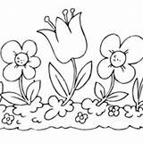 Coloring Pages Flower Garden Printable Surfnetkids 1000 Surfing Flowerbed sketch template