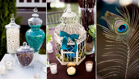 Peacock Decorations For Home: A Peacock Inspired Wedding Theme