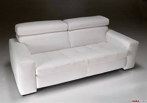divano in pelle bianco divano moderno bianco squadrato in vera pelle