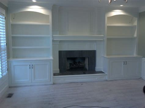 Built In Bookcase Around Fireplace by What Is The Cost For Custom Built In Bookshelves Around A