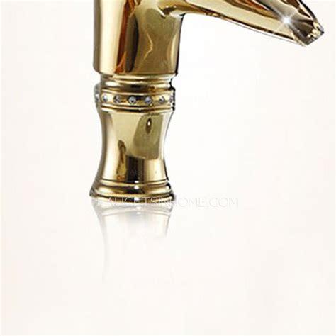 european polished brass single handle centerset bathroom