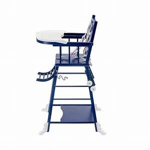 Chaise Bleu Marine : chaise haute transformable marcel laqu bleu marine combelle pour chambre enfant les enfants ~ Teatrodelosmanantiales.com Idées de Décoration