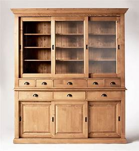 Vaisselier Pin Massif : vaisselier cir miel 6 portes coulissantes 8 tiroirs made in meubles ~ Teatrodelosmanantiales.com Idées de Décoration
