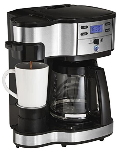 When you see hamilton beach flexbrew coffee maker then the first thing which you'll see on the top coffee pot's digital clock. Hamilton Beach (49980A) Single Serve Coffee Maker and ...