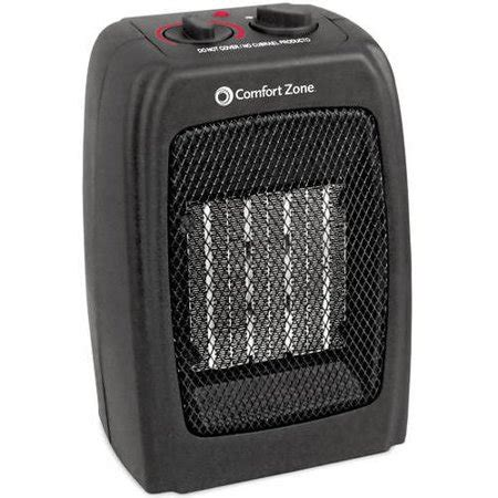 comfort zone heater comfort zone ceramic electric portable space heater black