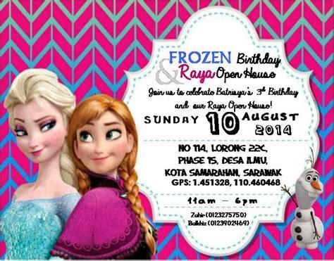 frozen party aka raya open house  chenta zb