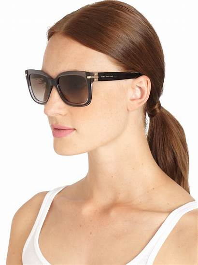 Sunglasses Marc Jacobs Square Oversized Acetate Gray