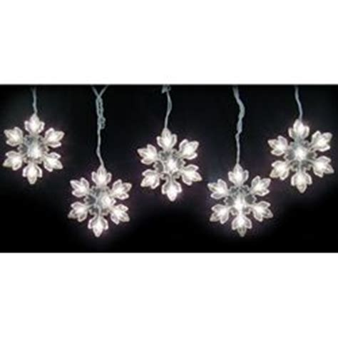 snowflake string lights outdoor icicle string lights 5 acrylic snowflakes 8 ft outdoor