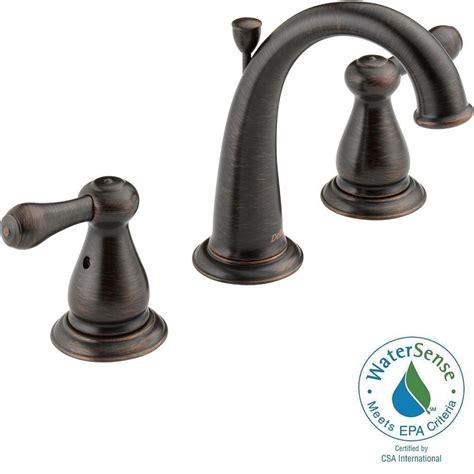 bronze bathroom faucets delta leland 8 in widespread 2 handle high arc bathroom