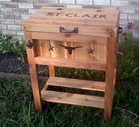 cowboy country coolers fine rustic wooden ice chest  big   pinterest wooden ice