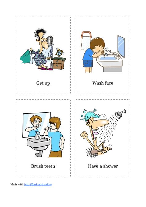 flashcards  daily activities
