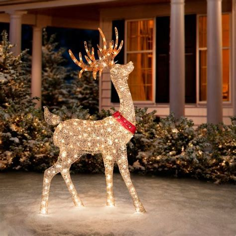 glittering champagne reindeer  christmas