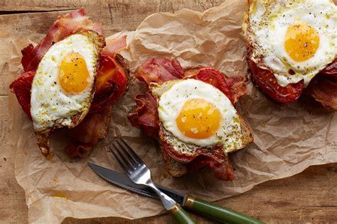 toast recipes bacon egg and tomato toast recipe epicurious com