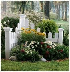 corner fence landscaping add a small corner fence with plants and flowers to separate property and add color to the
