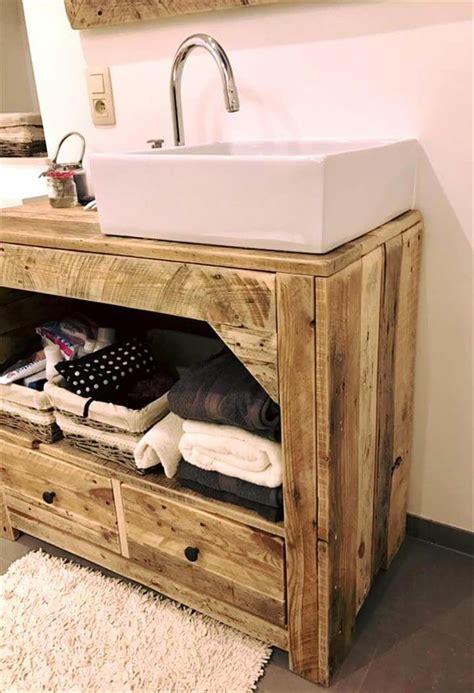 diy pallet bathroom vanity  mirror pallets pro